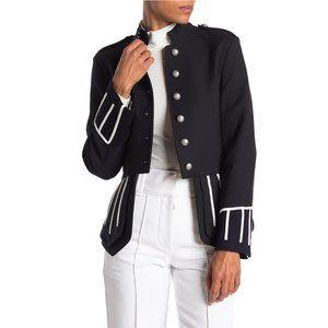 NWT Burberry Ridgeton Wool Military Coat